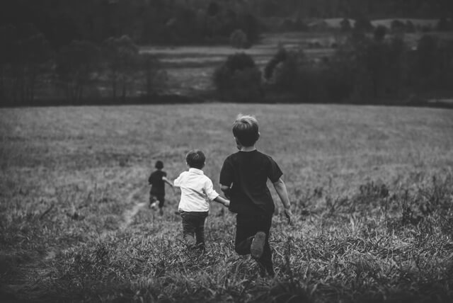 AWANA - kids running in field